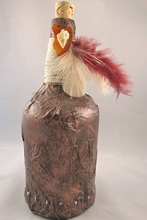 Jumbo Potion Bottle - Decoction - Copper with Seashells and Clock