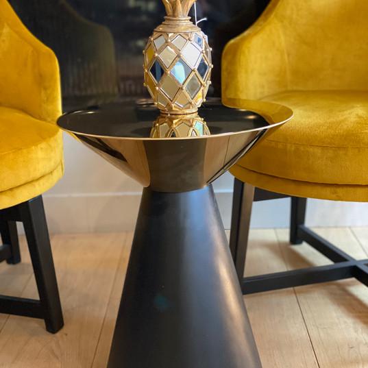 Table d'appoint  noir et or RCH171090002