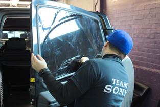 SUV window tinting