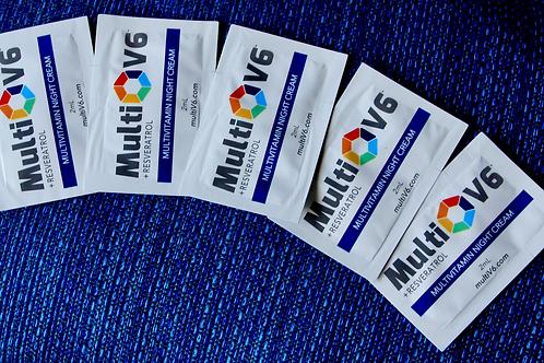 Multivitamin Night Cream Travel packets set of 5