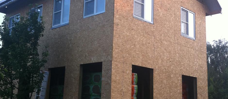 Строительство каркасного дома 6 на 8м.