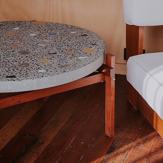 Waste Terrazzo - coffee table timber