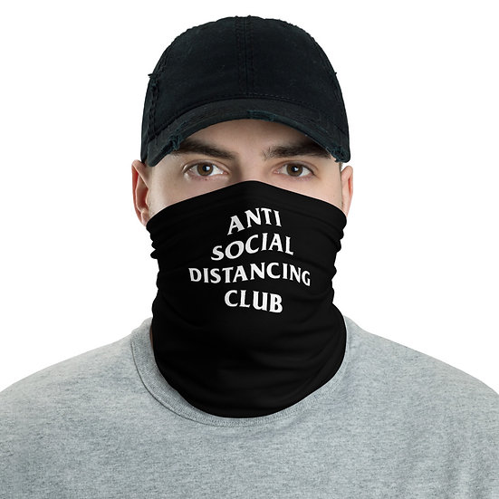 Anti Social Distancing Club Neck Face Wrap