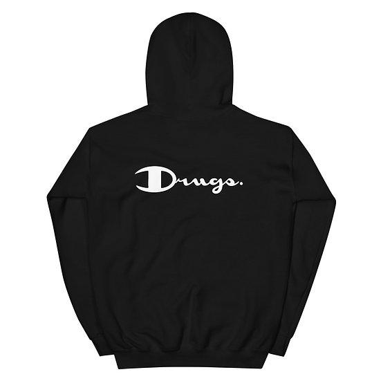 Drugs White Logo Hoodie