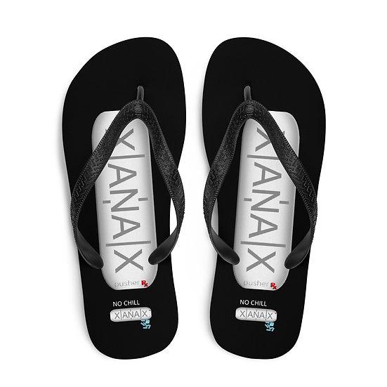 Xanax Flip Flops Black