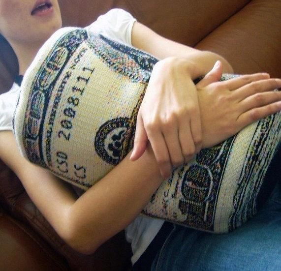 Money Roll Pillow