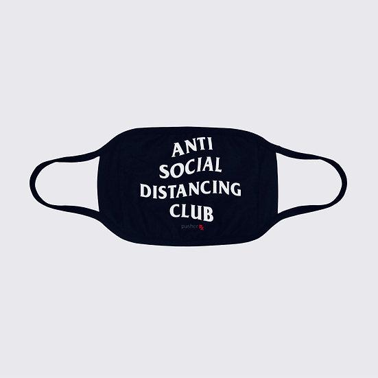 Anti Social Distancing Club Face Mask Black