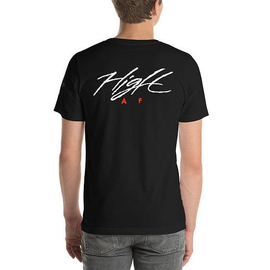 High AF by pusher T-Shirt light font