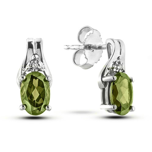 August Birthstone Earrings - Peridot