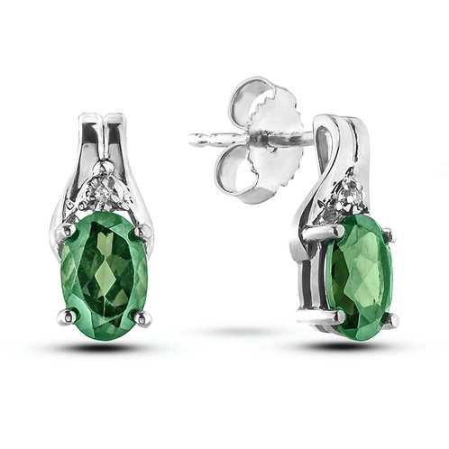 May Birthstone Earrings - Emerald