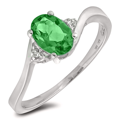 May Birthstone Ring - Emerald
