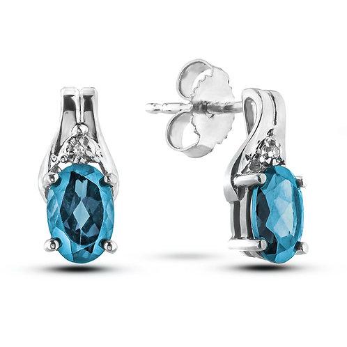 March Birthstone Earrings - Aquamarine