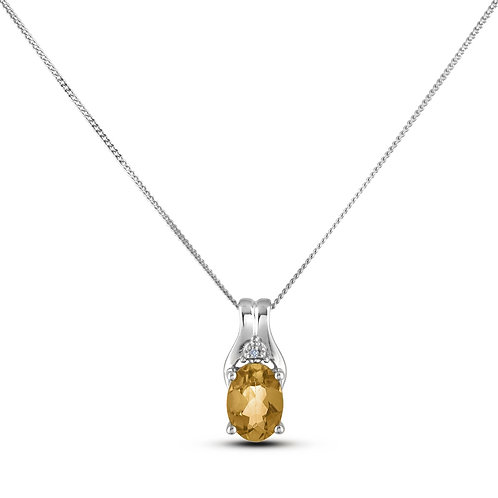 November Birthstone Pendant - Citrine