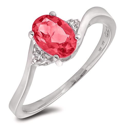 June Birthstone Ring - Rhodolite
