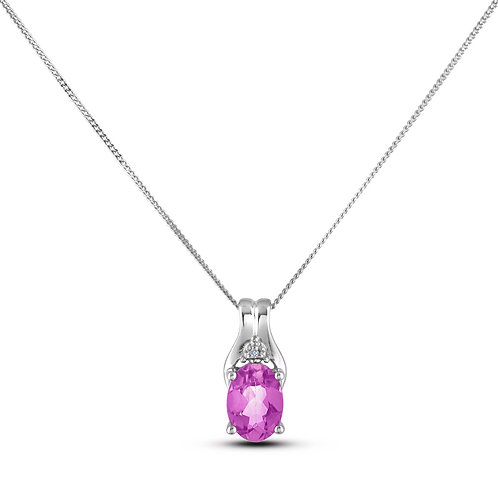 October Birthstone Pendant - Pink Topaz