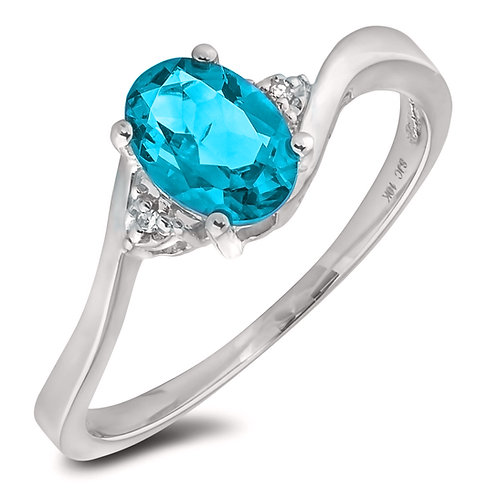 March Birthstone Ring - Aquamarine