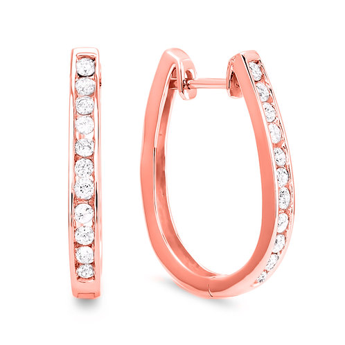Diamond Hoop Earring Collection - Rose Gold