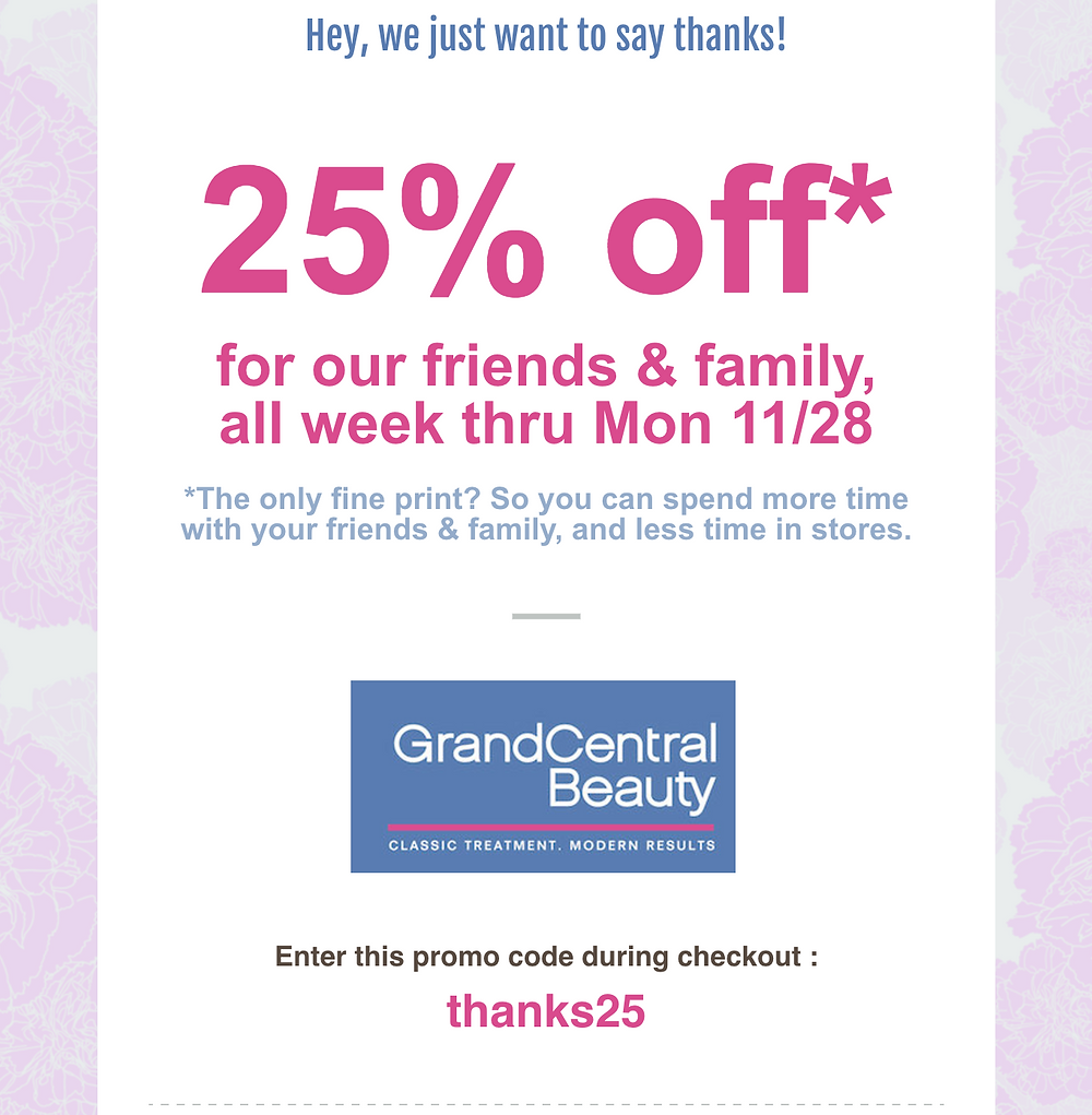 blackfriday friends and family sale flyer 25% off