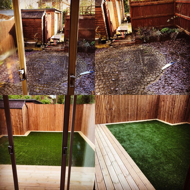 Welwyn pre and post Decking Turf