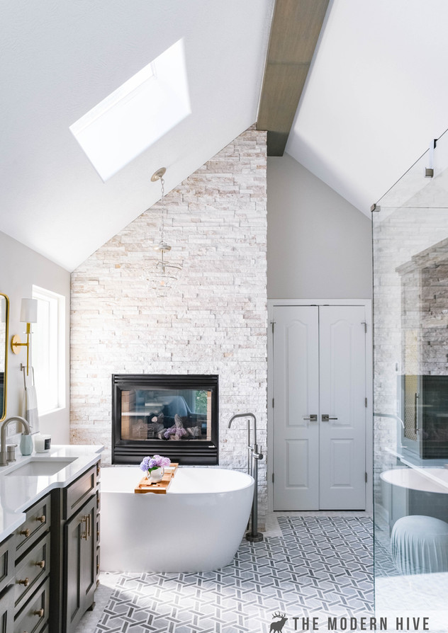 Omaha Master Bath Remodel by The Modern Hive Interior Design
