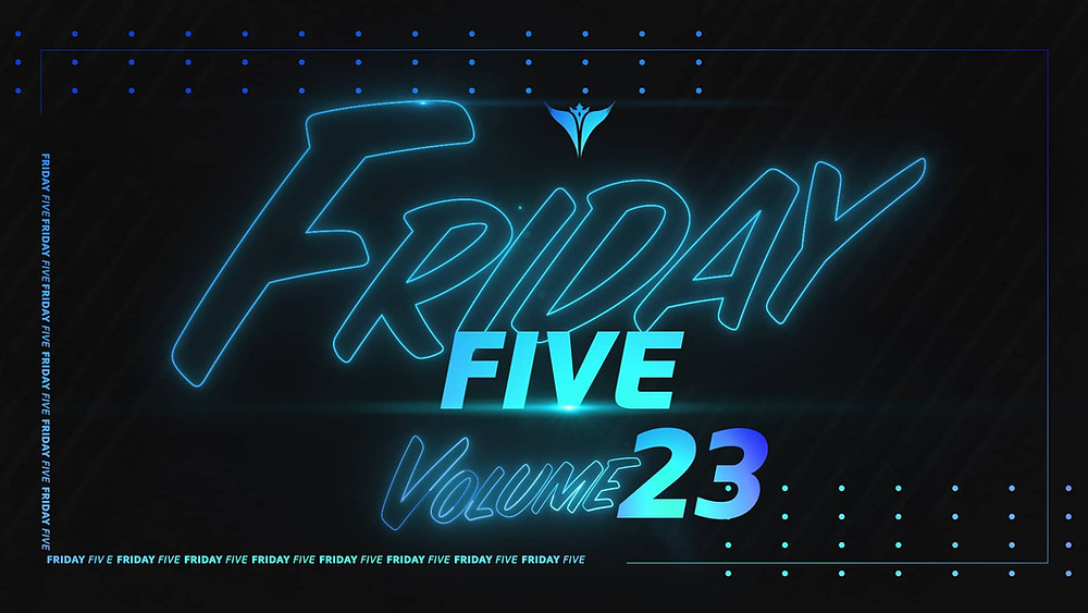 King Penguin Friday Five Logo Graphic