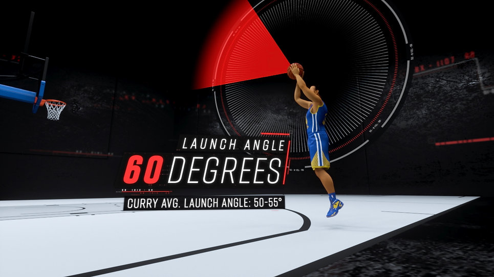 ESPN Sport Science Steph Curry graphic.