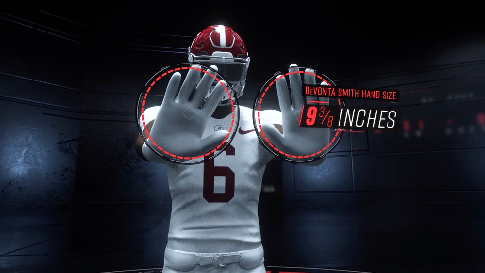 King Penguin ESPN Sport Science Devonta Smith 3D Hand Size