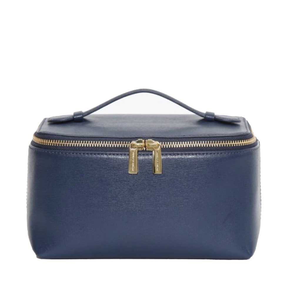 large vanity case in navy color from neely and chloe
