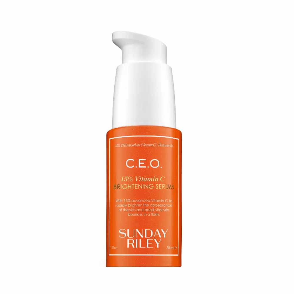 15% vitamin C brightening serum from sunday riley CEO