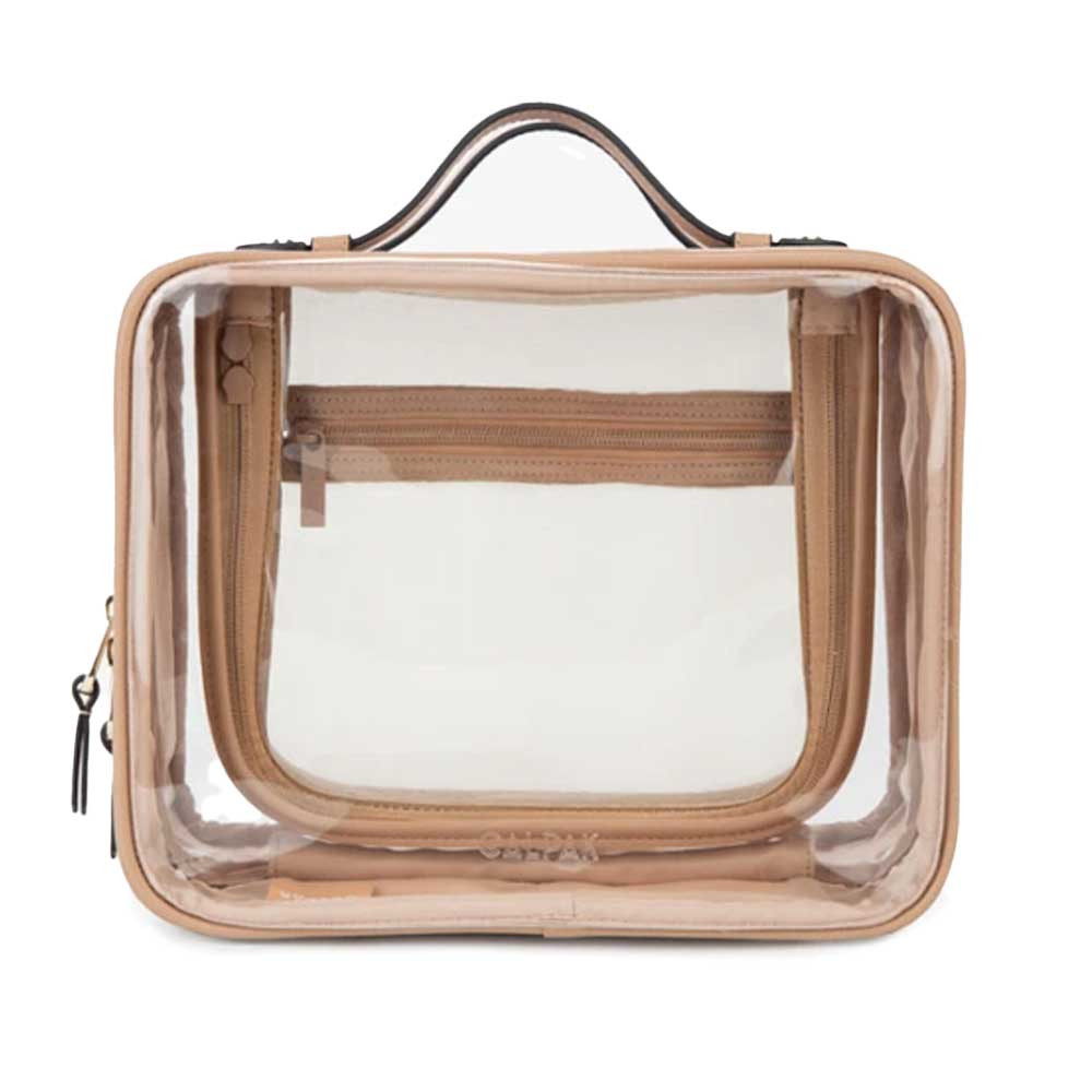 calpak clear cosmetic and toiletries case