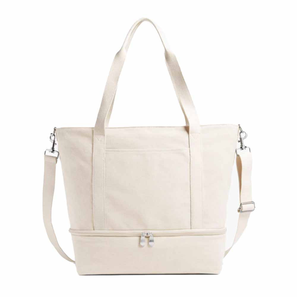 catalina deluxe tote bag in organic canvas color from lo and sons