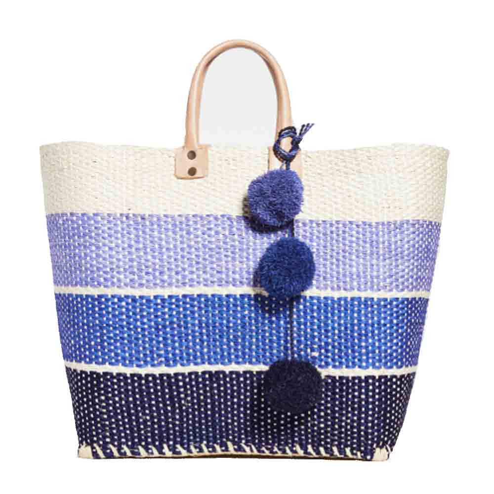 samana tote bag in blue and cream colors from mar y sol