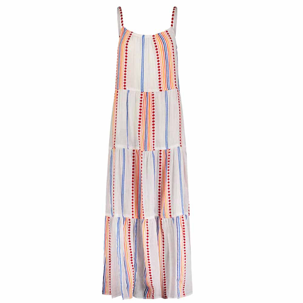lemlem hiwot cascade dress in multi color print from madewell