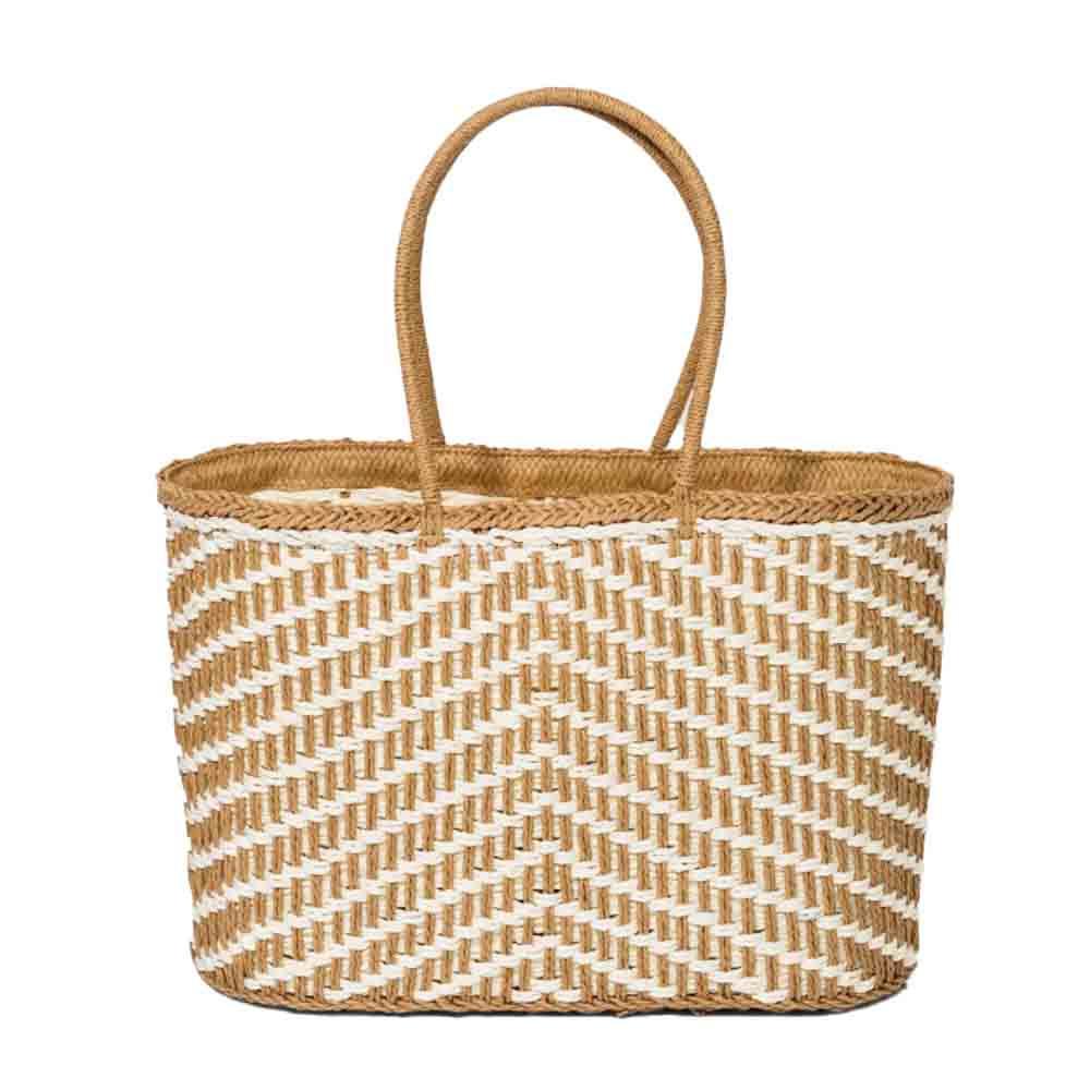 a new day straw circle handle tote handbag