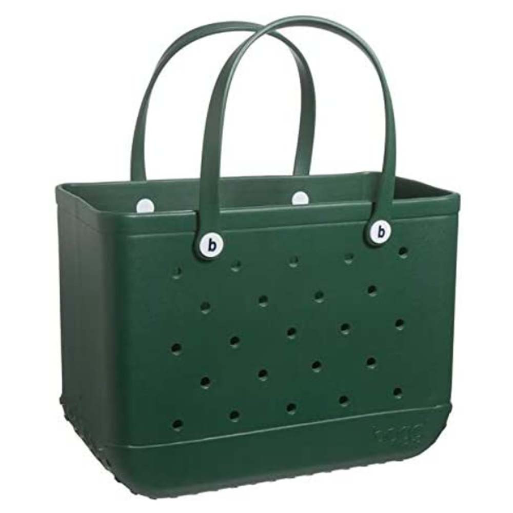 large waterproof tote bag in hunter green from bogg bag