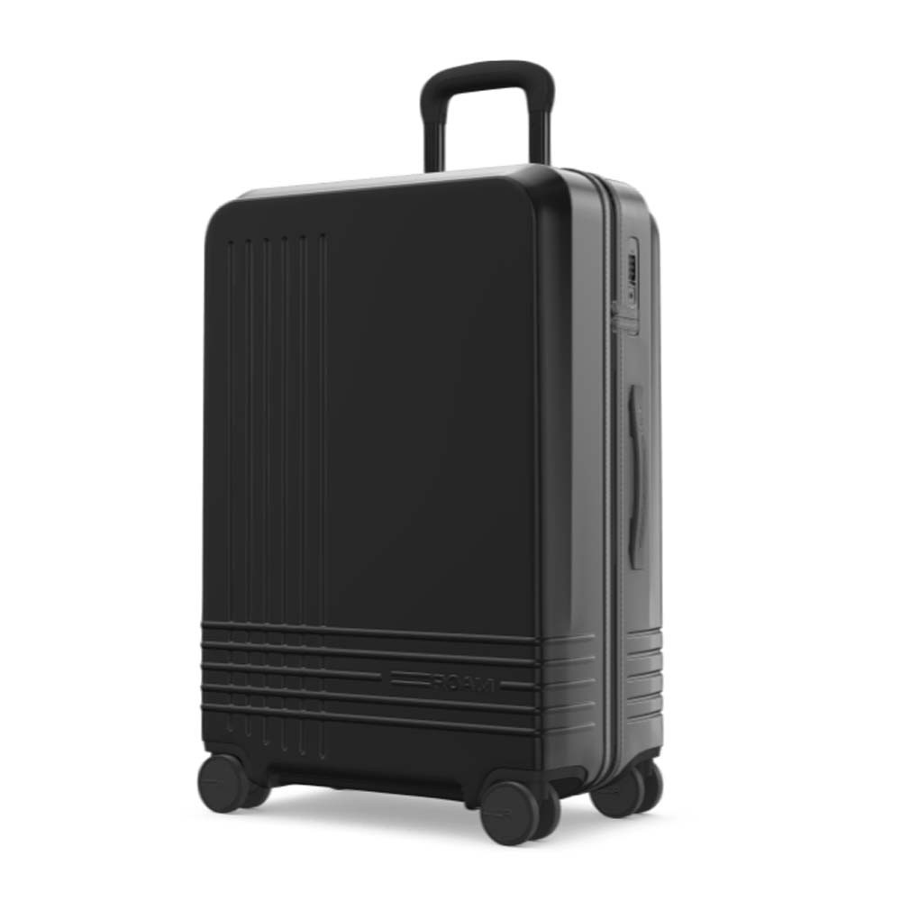 the expedition large customizable suitcase in black from roam