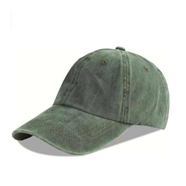 unisex baseball cap in olive green color from langzhen