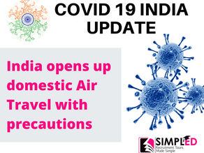 India Opens up domestic Air Travel from May 26.