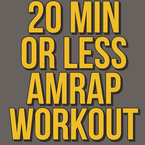 POWER 10 - WHOLE BODY AMRAP
