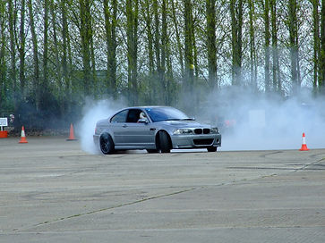 Drifting E46 M3 CSL at a Trackday organised by John Marcar