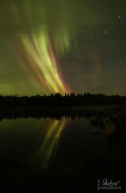 Polarlicht am See