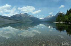Berge im Spiegelbild