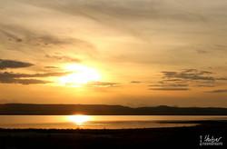 Sonnenuntergang am Freezeout Lake
