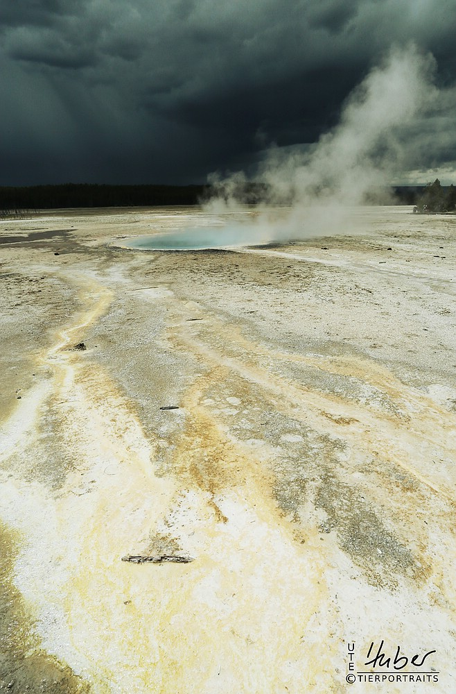 unglaubliche Mammoth Hot Springs