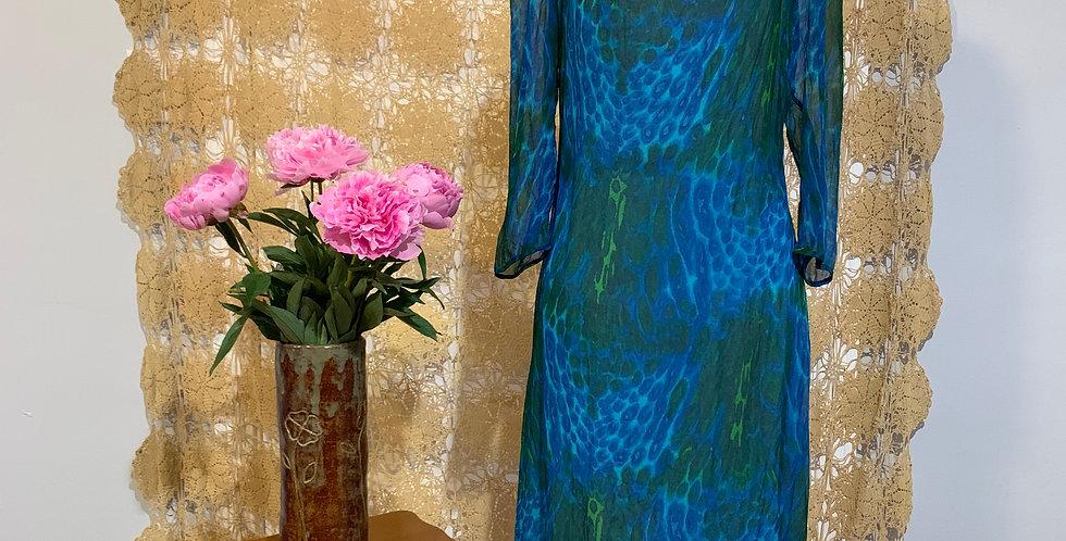 Vintage 1950s Silk Chiffon Dress