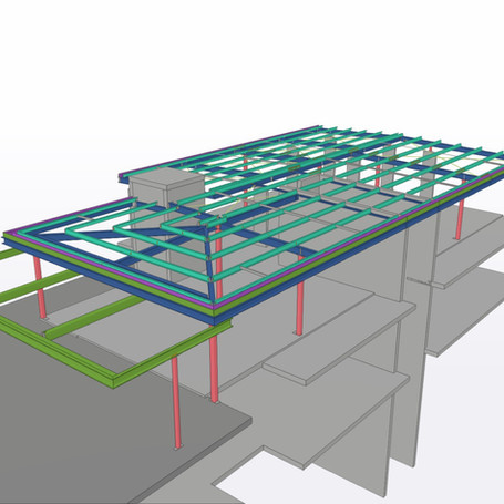 New Commercial Building Roof Structure