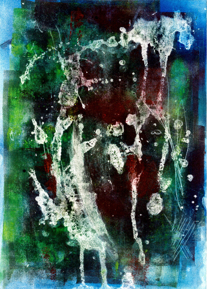 A series of abstract monoprints