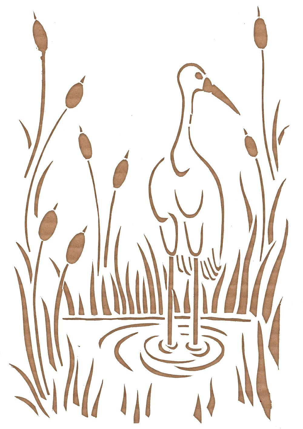 bird illustration paper cut art