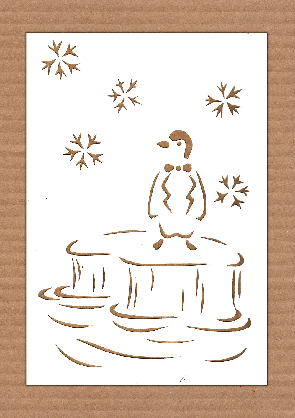 bird paper cut illustration