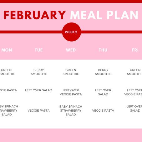 February Week 2 Meal Guide